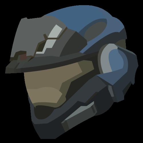 Noble 7 Helmet Art Pixel Art Halo Reach Halo Armor