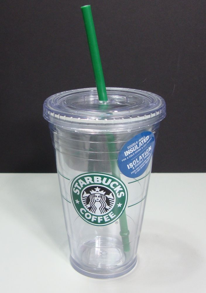 Starbucks Cold To Go Clear Plastic Tumbler Cup Straw ...