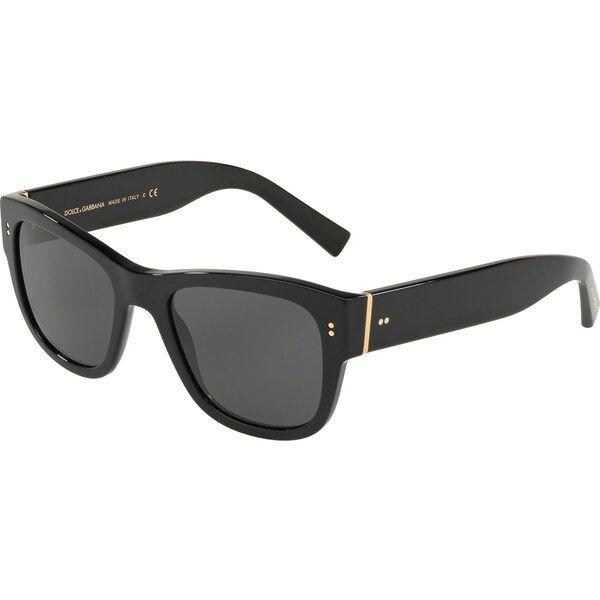Dolce & Gabbana DG4338 501/87, Plastic, Black, Sunglasses …