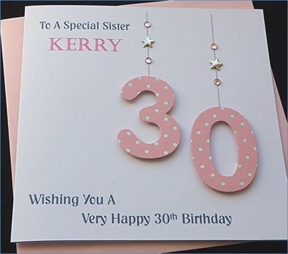 Image Result For Diy Birthday Card 30 Years Old