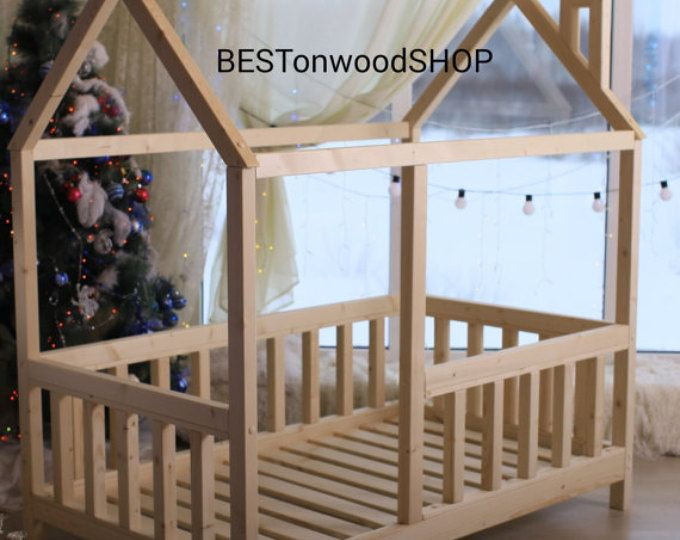 Toddler bed, House bed, Children bed, Wooden house, Tent ...