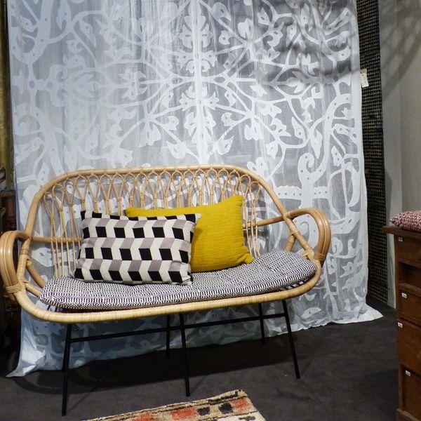 Sofa Laura En Rotin Le Monde Sauvage Tete De Lit En Rotin Deco Interieure Idees De Decor