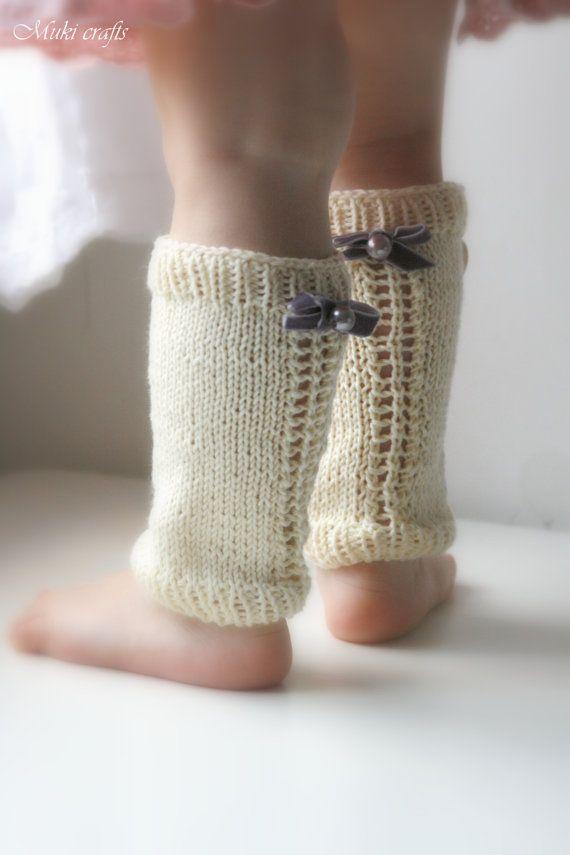 KNITTING PATTERN basic lace leg warmers Pauline por MukiCrafts ...