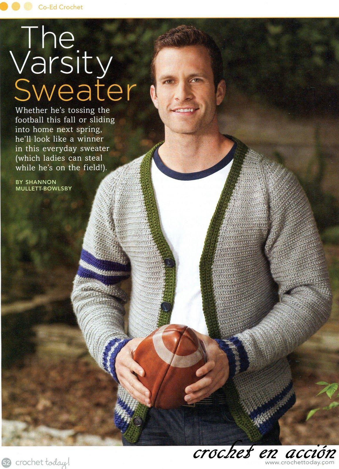 Crochet En Acción: Sweater y Pullover   Proyectos   Pinterest ...
