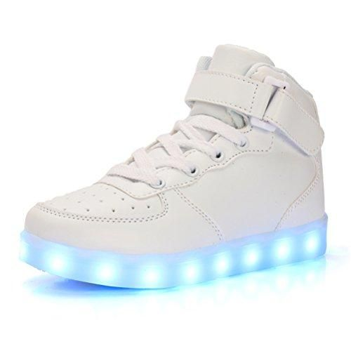 4d982c269c2 Comprar Ofertas de UBFen Unisex Zapatillas con luces Alta 7 Colors USB  Carga LED Luz Luminosas Flash Sneakers Zapatos Deporte Para Niños Niñas H  barato.