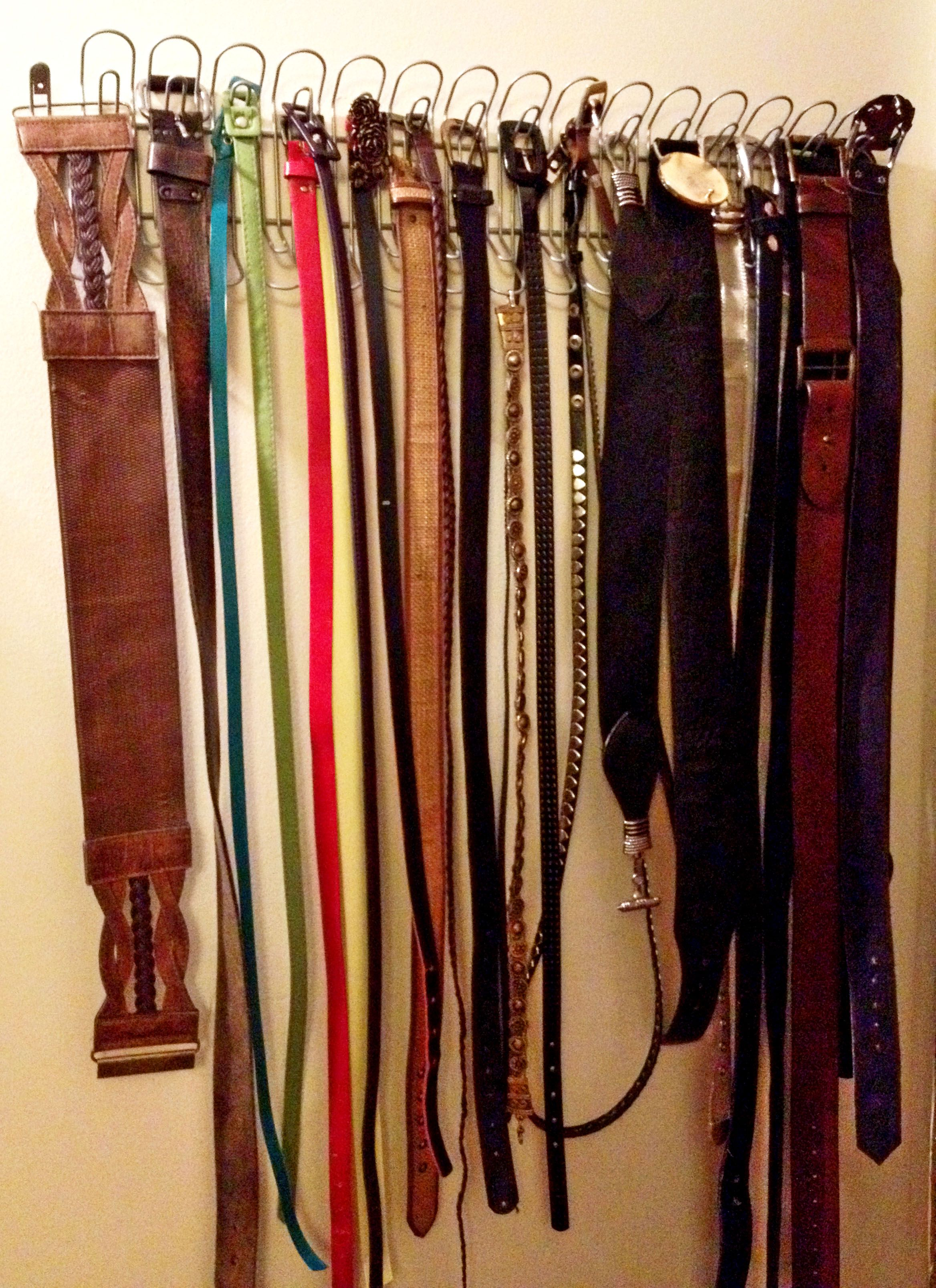 IKEA Hack   Belt Organizer For The Closet Using A Cable Management System