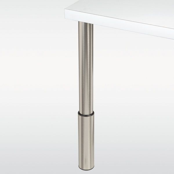 Pied de table r glable inox chrom ou noir hauteur 710 910 mm cuisine pied de table - Table modulable ikea ...