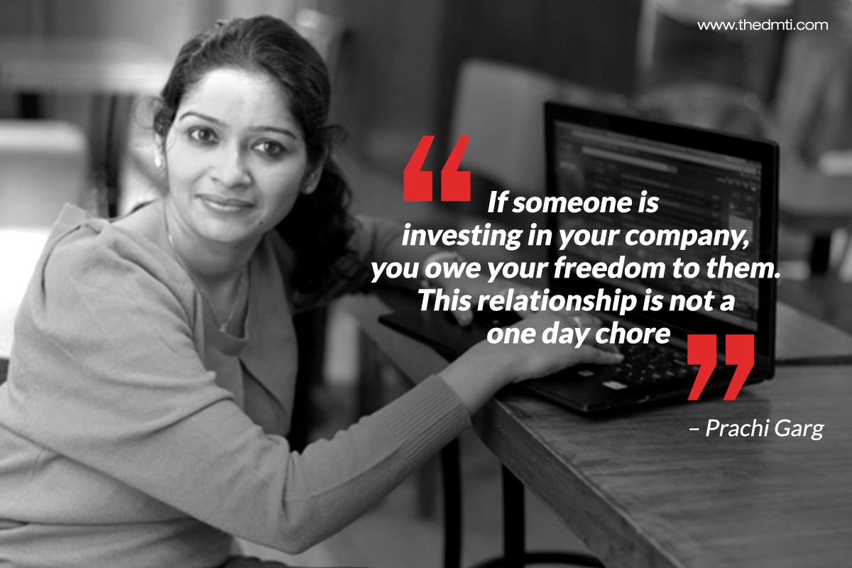 Prachi Garg shares her story about why she chose to self fund her start up - http://bit.ly/28XmhLn