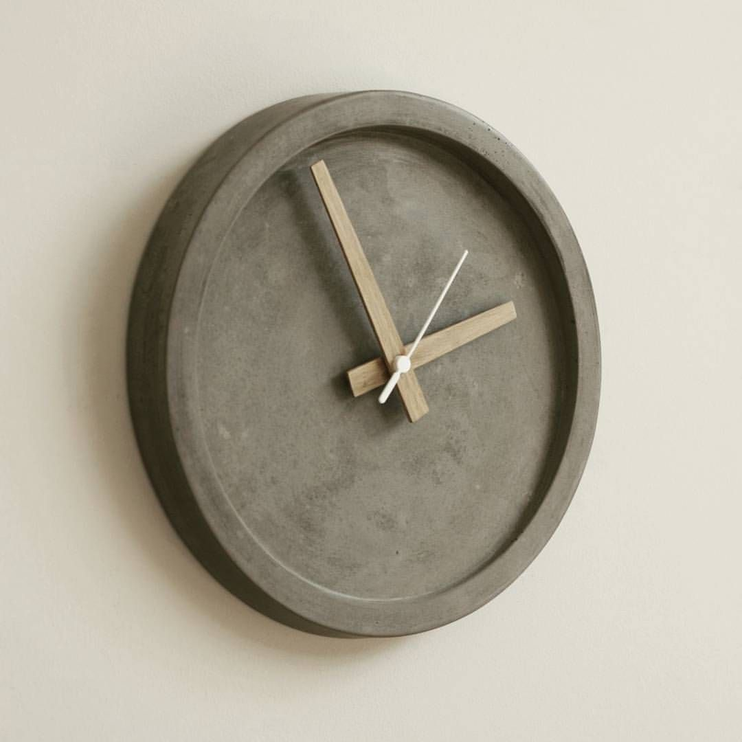 These Beautiful Concrete Wall Clocks Have Just Arrived At Our