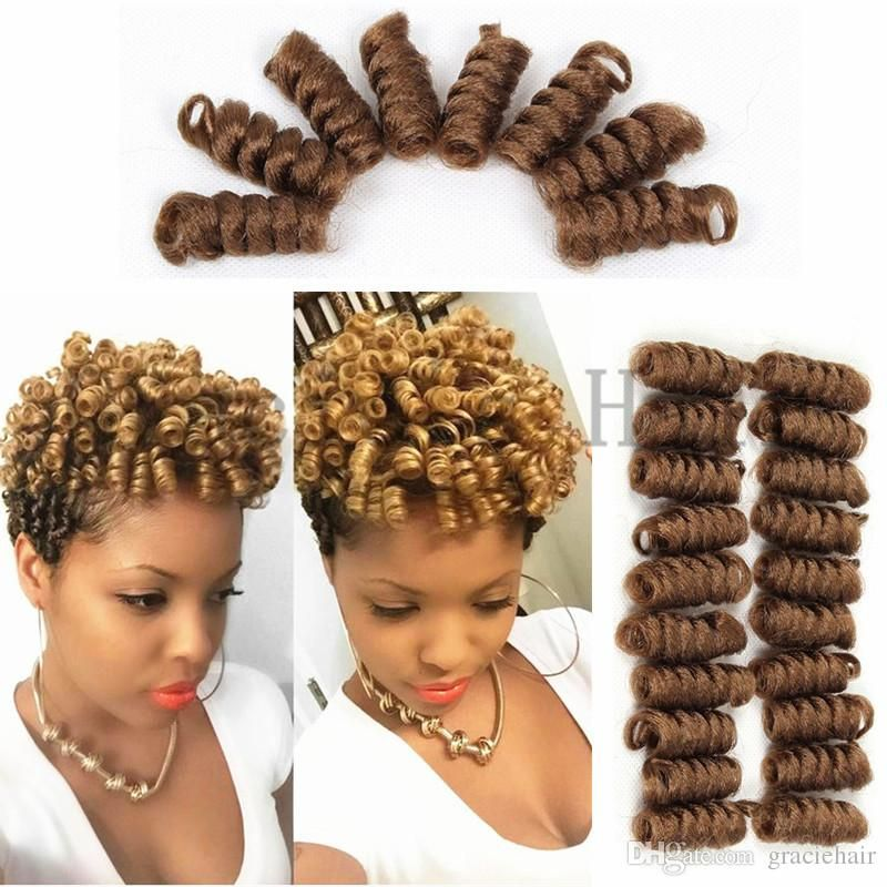 2018 Synthetic Hair Extensions Saniya Bouncy Curls Crochet Braids