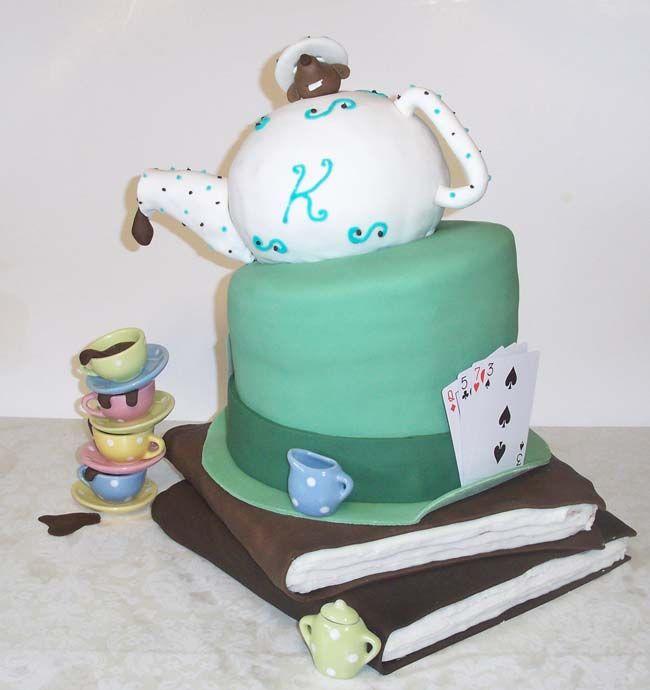 Mad Hatter Tea Party Birthday Cake My Cakes Pinterest Tea