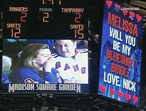 Video Board Marriage Proposal During Hockey Game If Someone Does