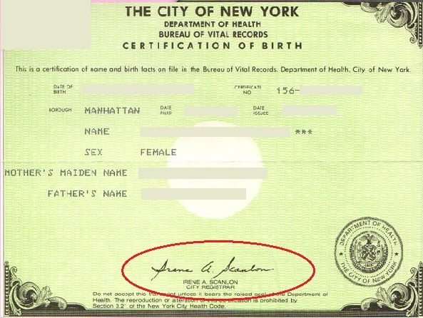 Apostille For This Nyc Birth Certificate Is It Possible  New