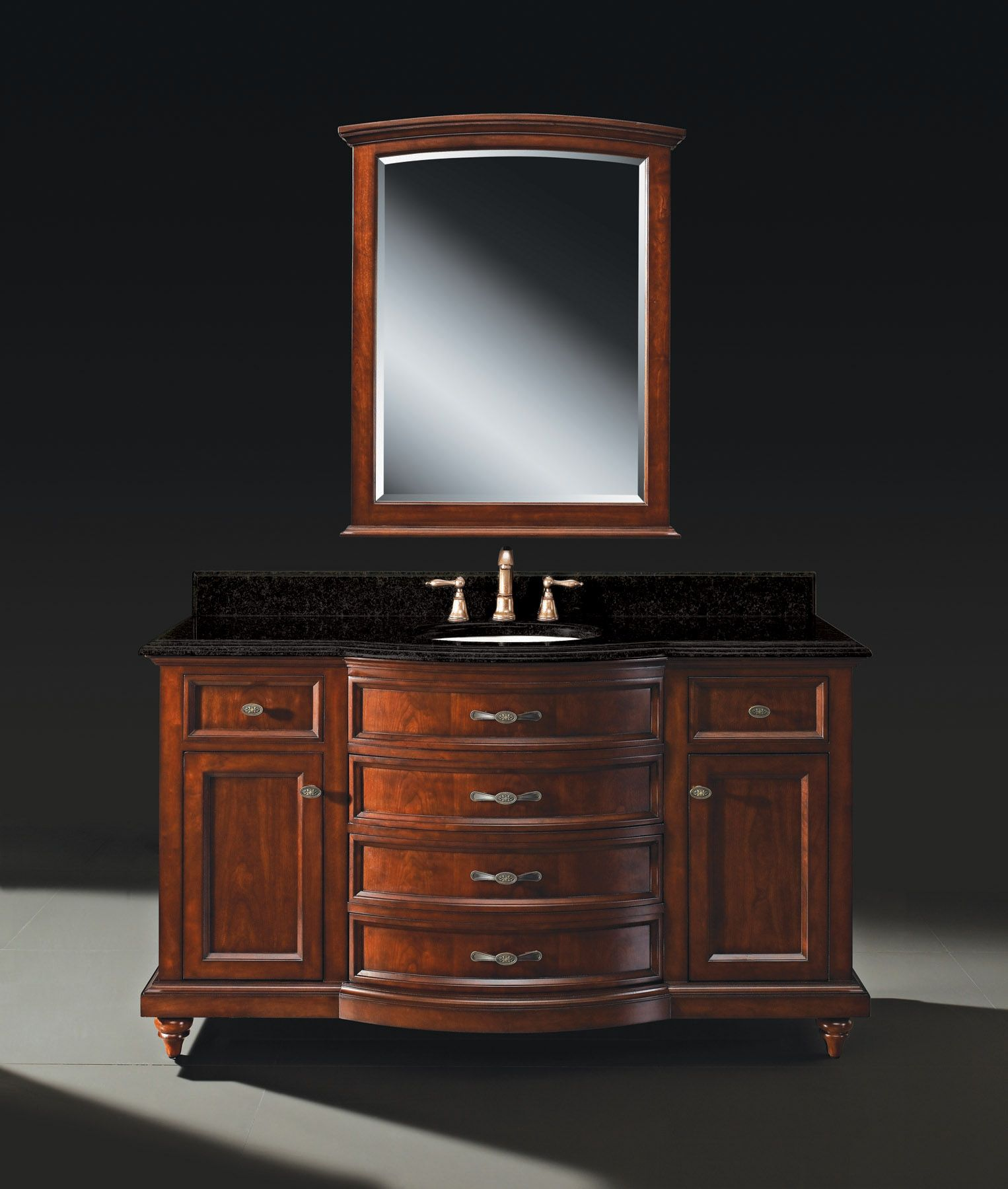 The Carrington 60 Quot Single Basin Vanity With Solid Cherry