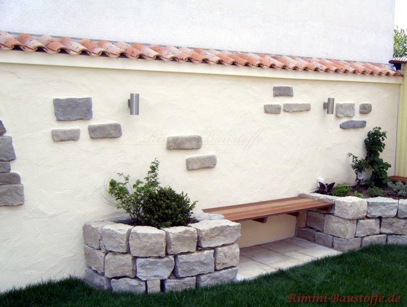 Pin by Renate on Mauer Pinterest Wand and Garten - garten sitzecke mauer