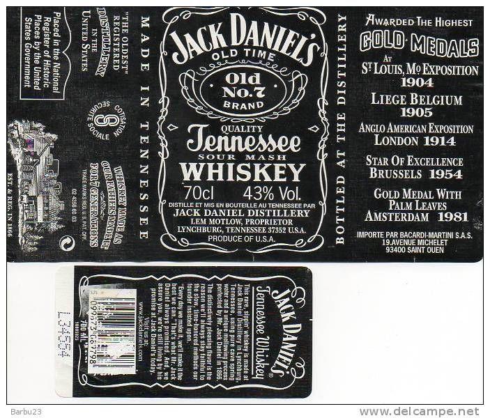 Jack Daniels Tennessee Honey Bouteille étiquette Comestible Imprimé Icing Cake Topper