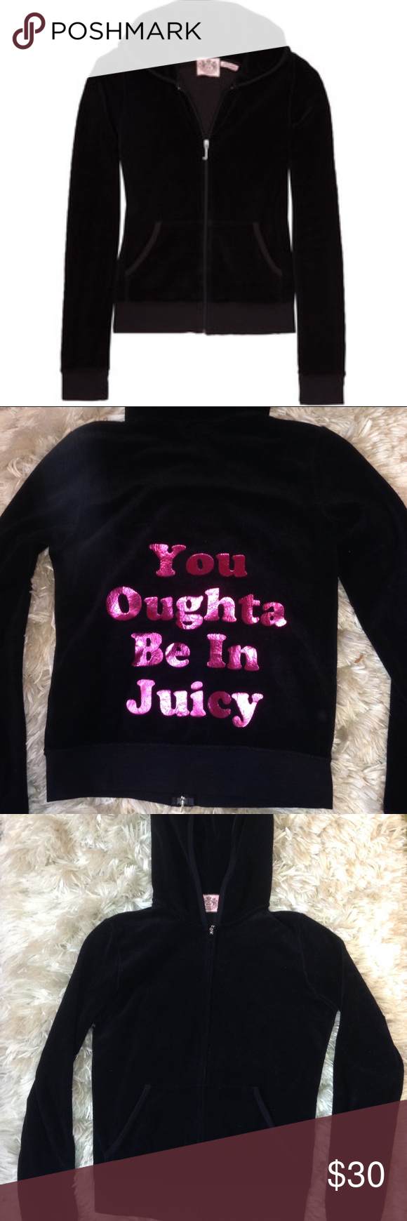 Juicy Couture Black Sweater | More Juicy couture, Solid black and ...