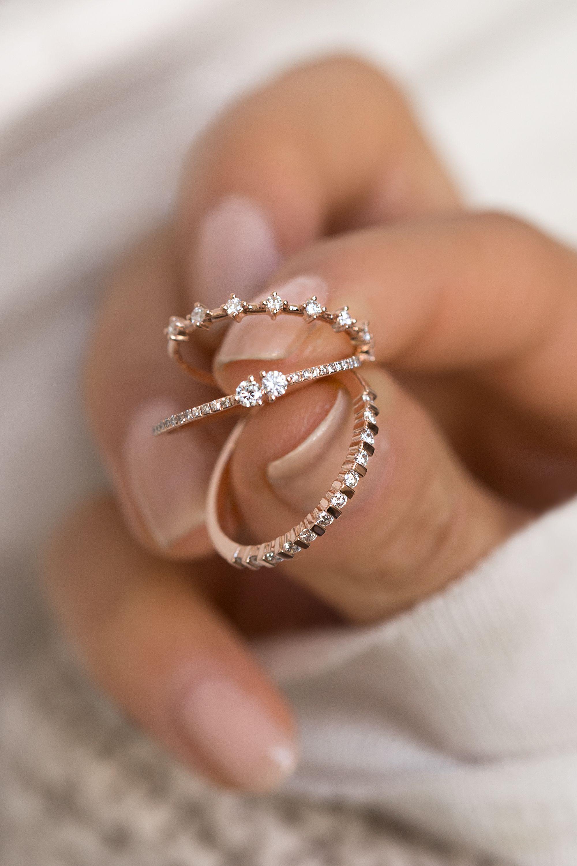 Bienvenido a la fiesta del anillo ♡ #ringe #finejewelry #diamonds #rosegold #delicate