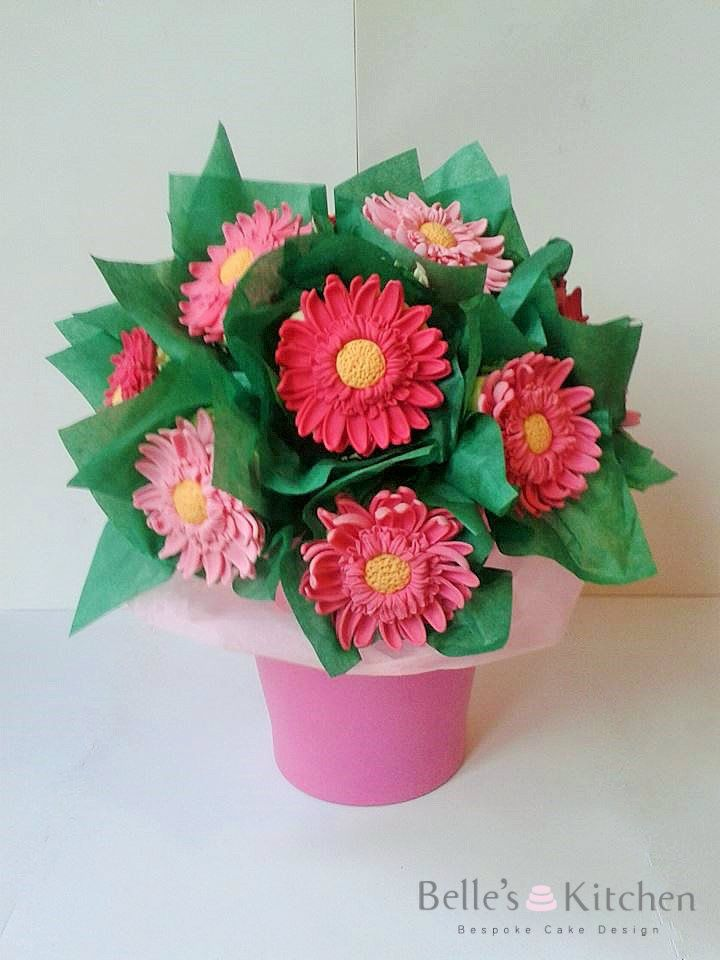 Gerbera cupcake bouquet   Bespoke Cakes   Pinterest   Cake