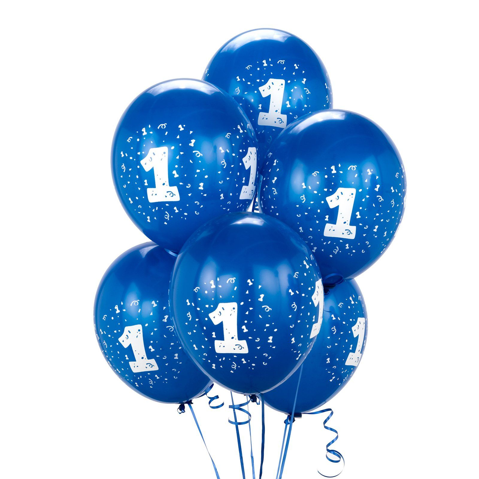 Royal Blue 1 Balloons First Birthday Balloons Balloons 1st