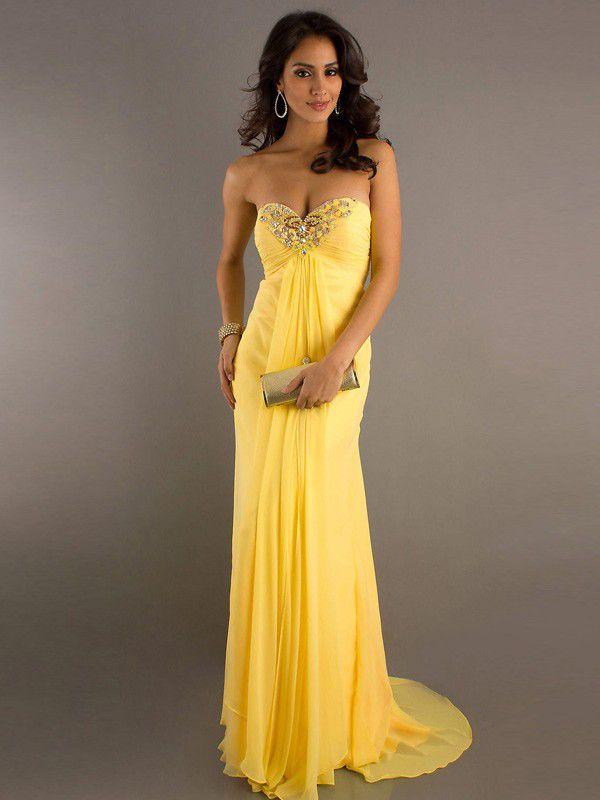 Robe cocktail jaune pale – Robes de soirée élégantes 2019 17695ae84292