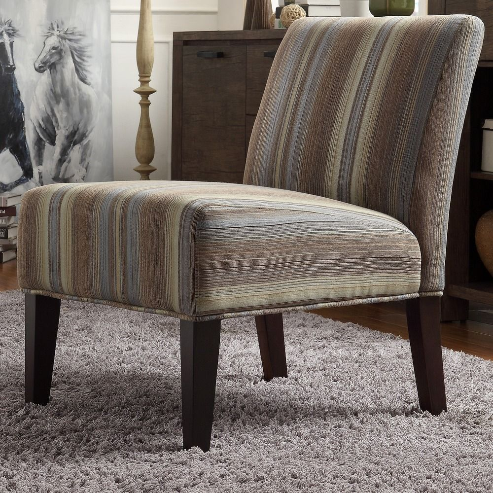 Peterson Mocha Tonal Stripe Slipper Chair by INSPIRE Q by iNSPIRE Q. Striped  SlippersLiving Room ...