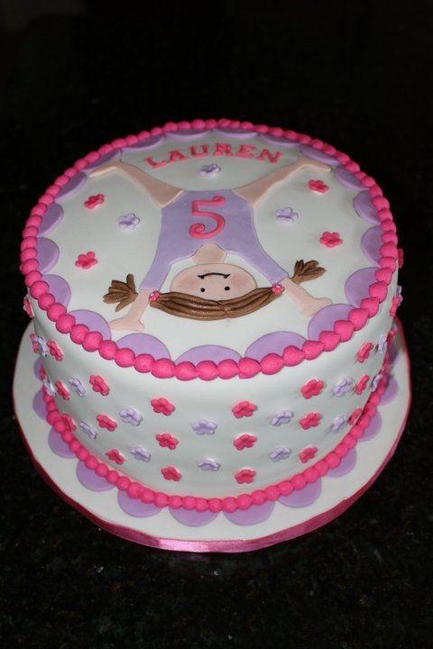 Gymnastics cake ame bday party pinterest pastelitos for Cuartos para ninas tumbler