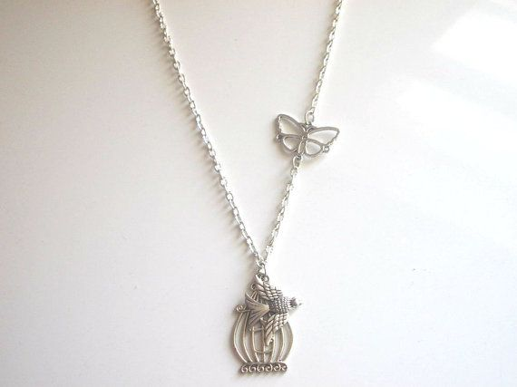 Be Free Bird Necklace Pendant  Cage pendant  by IriscaJewelry, $9.00