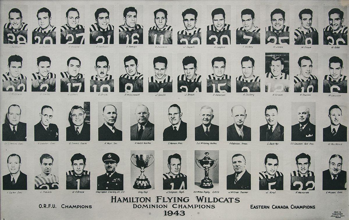 Ham.FlyingWildcats_1943 Champs.jpg (1200×759) Grey cup