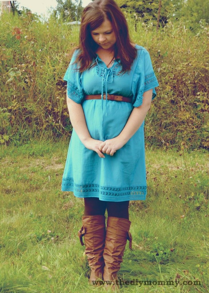 Summer dress and boots maternity