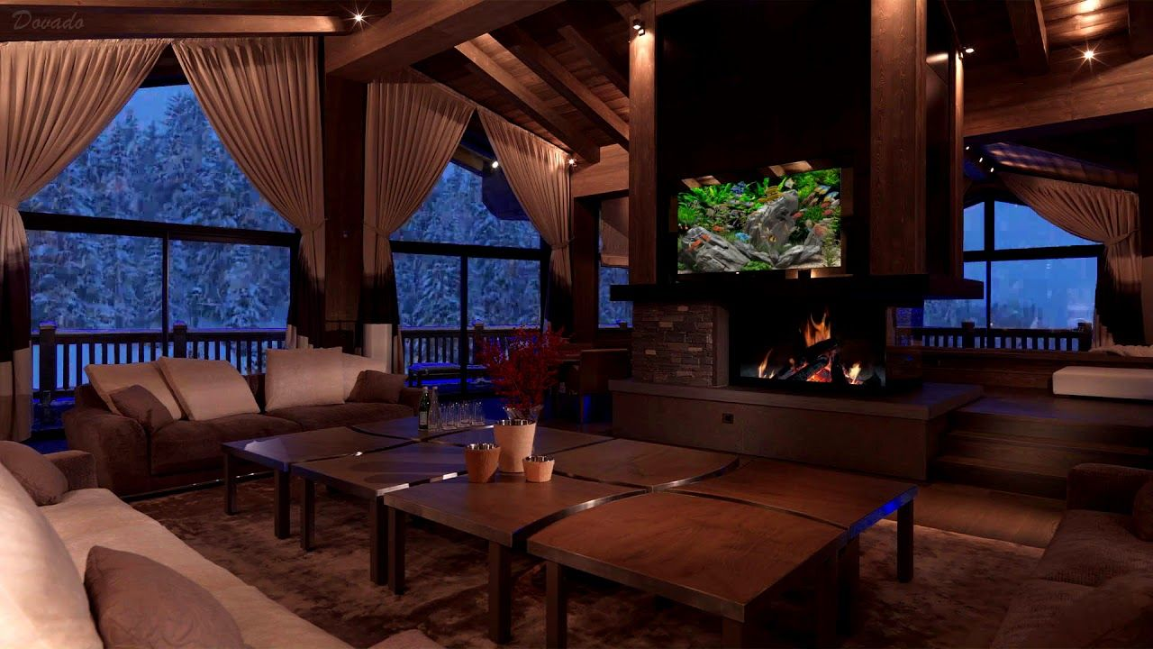 Cozy Ambience Relaxing Wind Sounds Crackling Fireplace Sounds Youtube In 2020 Ambience Storm Sounds Winter Background