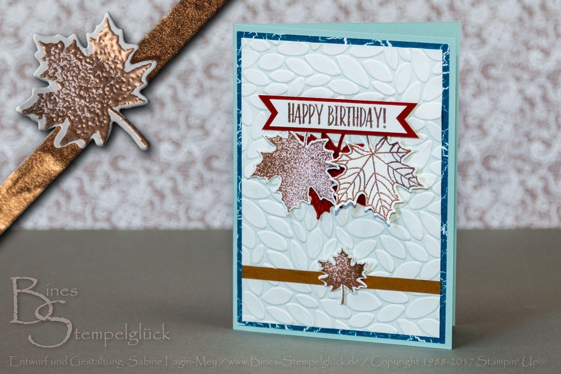 Geburtstagskarte im herbstlichen Design, Stempelset Jahr voller ...