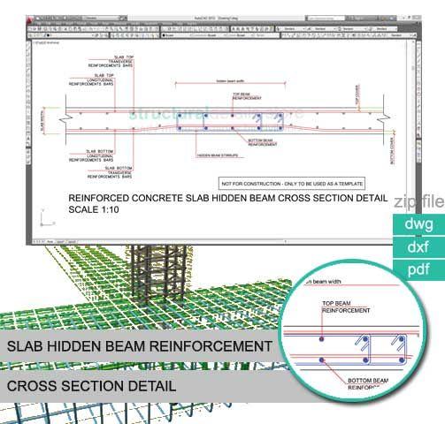 Slab Hidden Beam Reinforcement Cross Section Detail ...