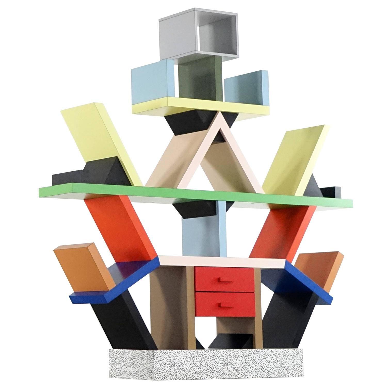 Ettore Sottsass Carlton Shelf, 1981, By Memphis Italy, Room Divider