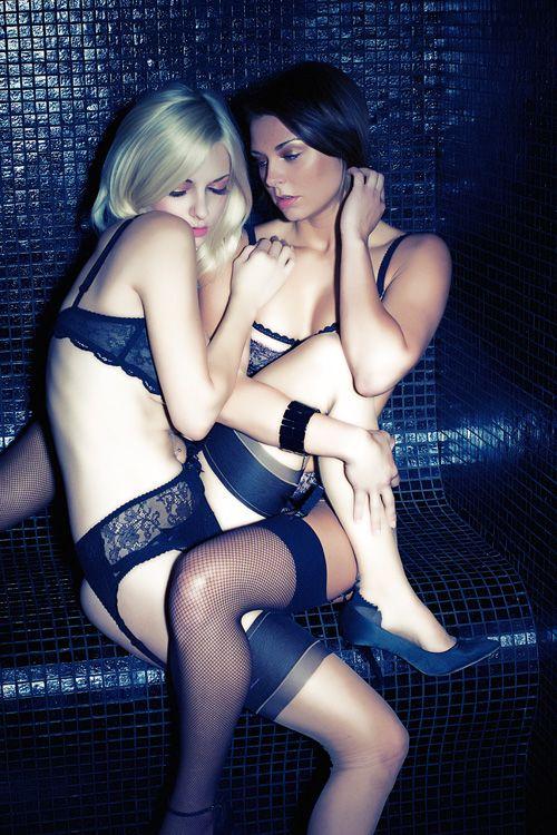Lesbian models shower