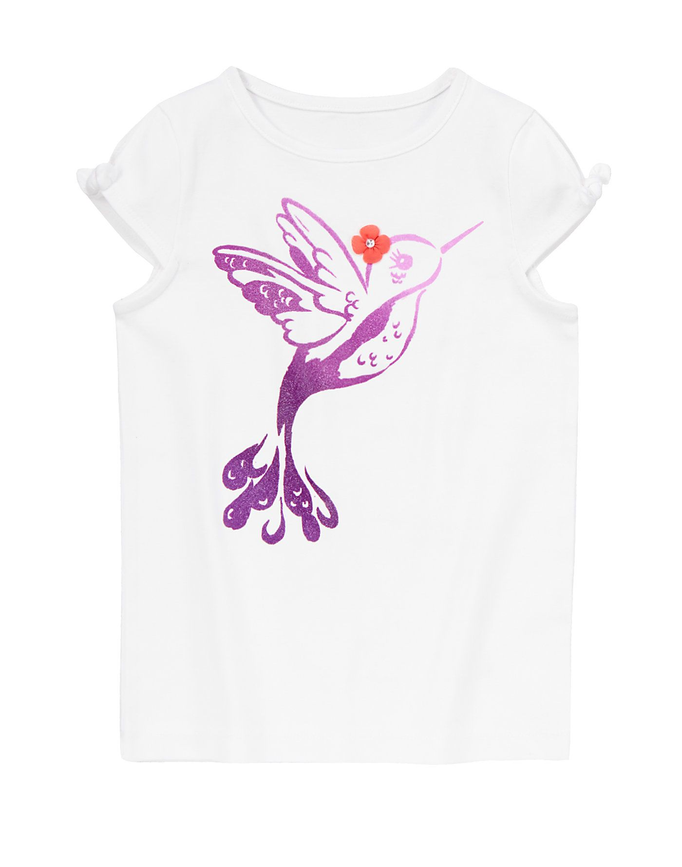 Cute style takes flight with our sparkly tee hummingbird design is