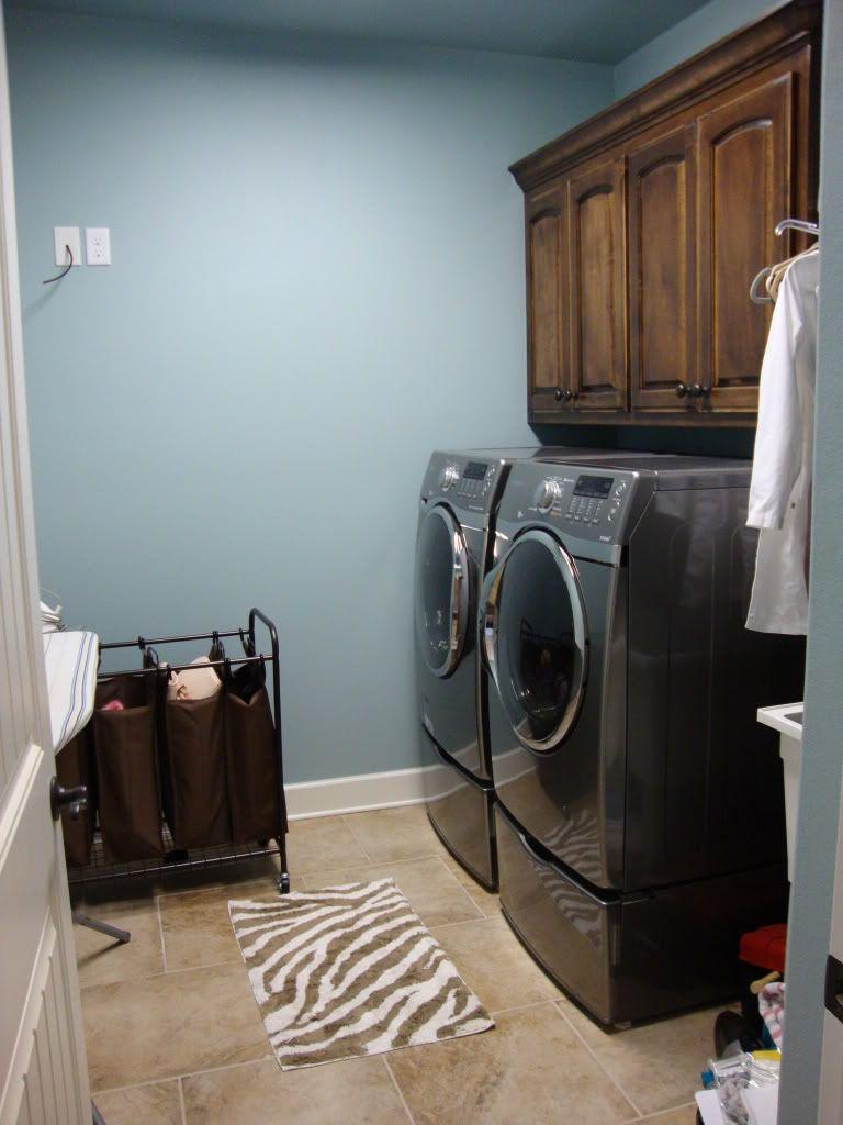 Sherwin Williams Rain Laundry Room Paint Color Laundry Room