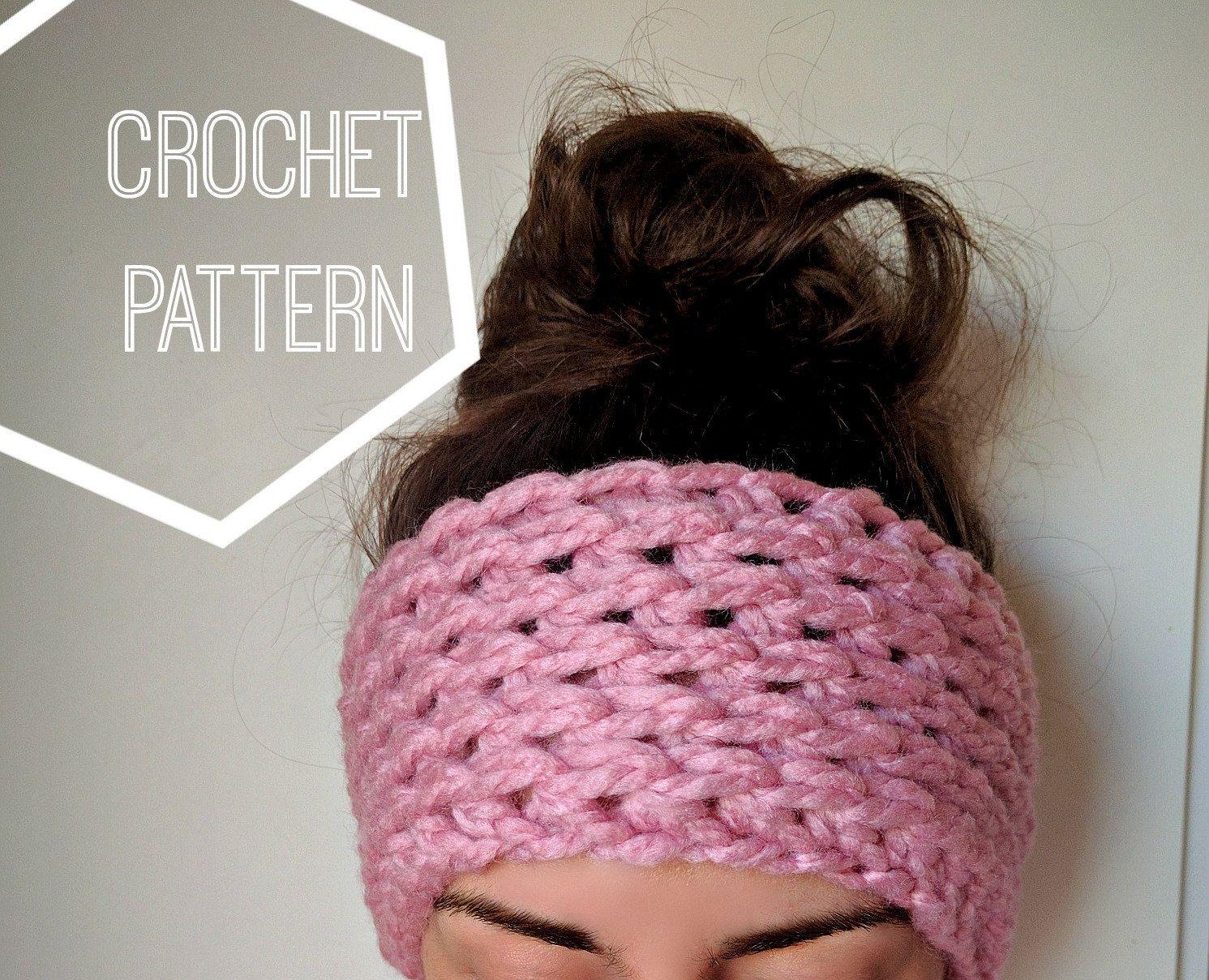 Chunky Crochet Ear Warmer Pattern, Ear Warmer Crochet Pattern ...