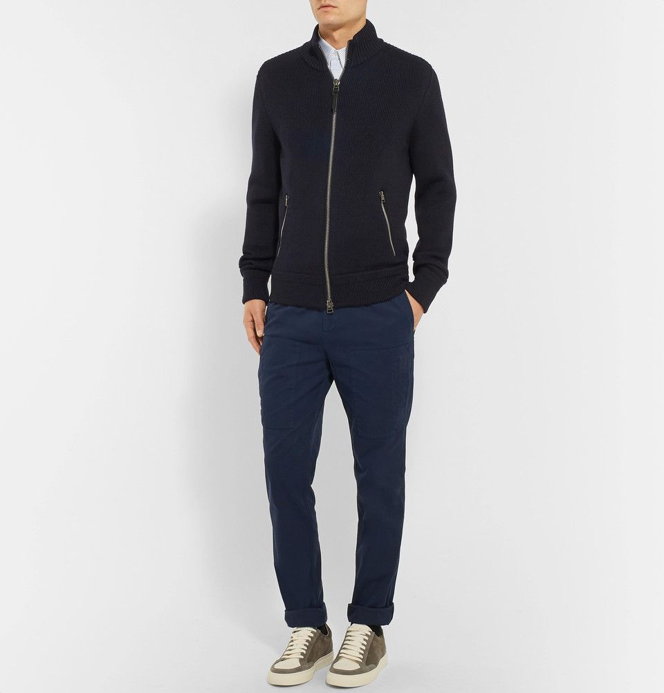 f2fa12e37ce67 TOM FORD - Ribbed Merino Wool Zip-Up Sweater | Knitwear | Zip up ...