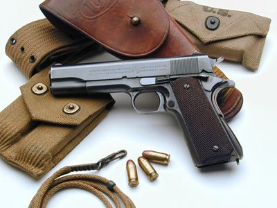 Colt 1911A1 serial number 721200 and accessories issued to