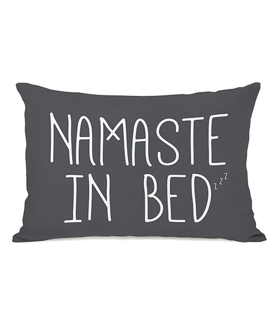Loving this gray unamaste in bedu throw pillow on zulily
