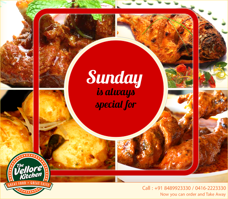 Sunday is always special for Non-Veg at The Vellore Kitchen