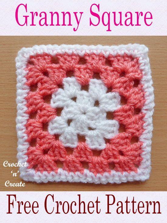 Crochet Granny Square Free Crochet Pattern Crochet N Create Granny Square Crochet Patterns Free Granny Square Pattern Free Crochet Granny Square Blanket