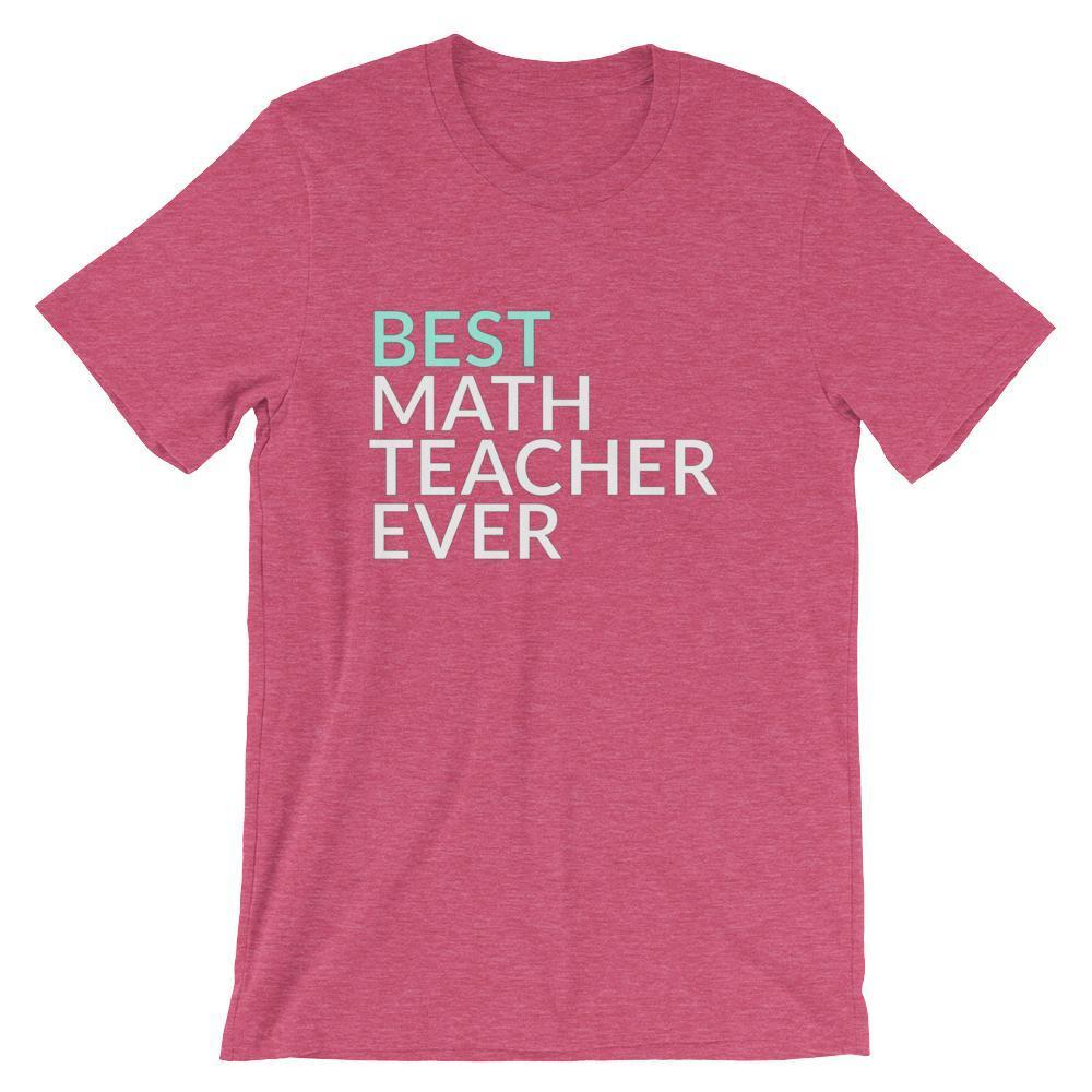 Photo of Best Math Teacher Ever Tee Shirt, Short-Sleeve Unisex T-Shirt