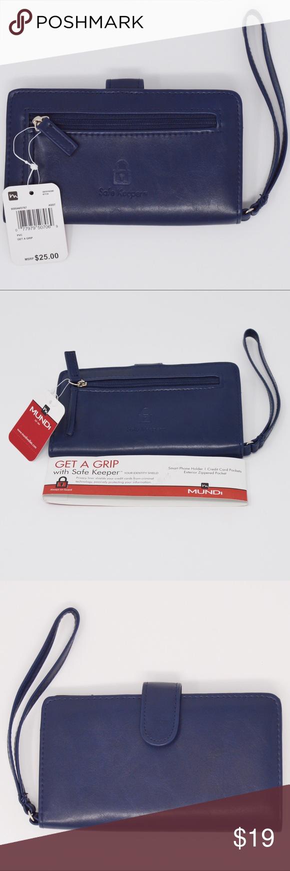 Mundi Safe Keepers Card Phone Wallet Wristlet Phone