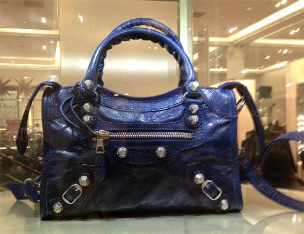 0301ee943f6b Balenciaga Mini Giant City Bag in Bleu Mineral