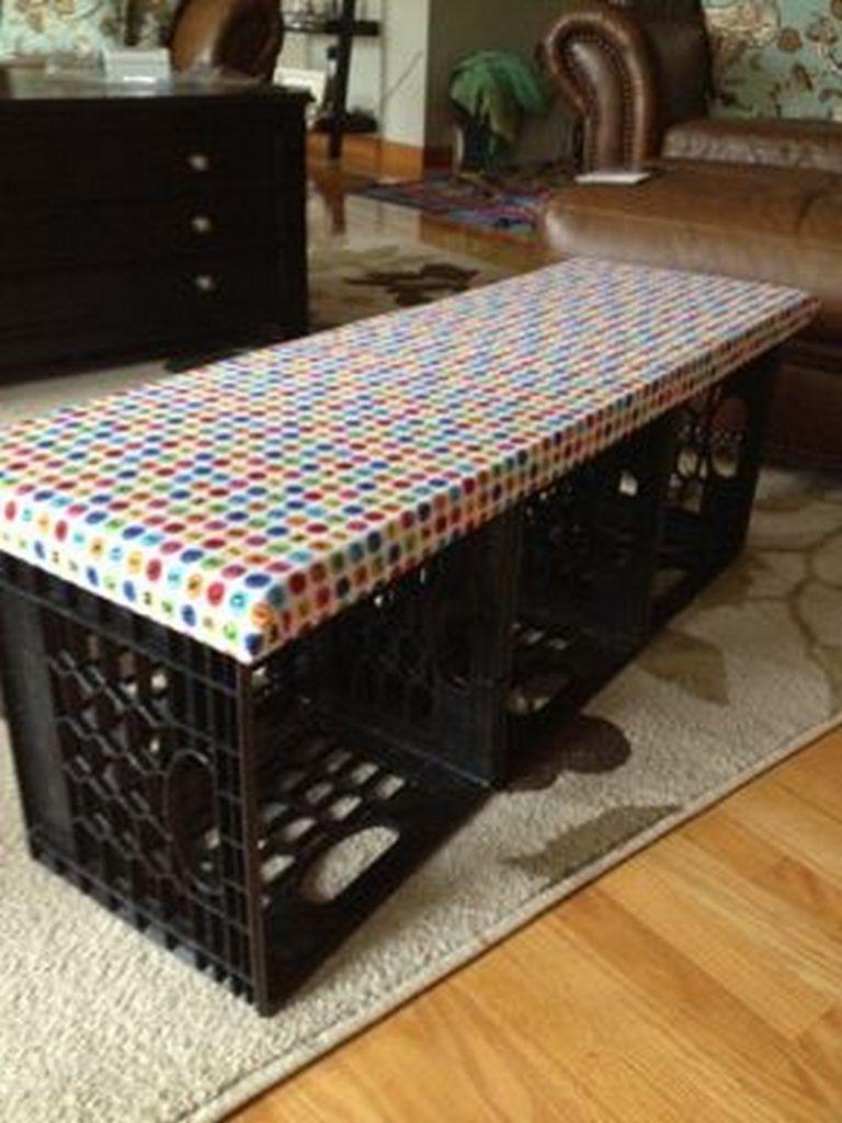 Nine Ways To Repurpose Milk Crates Crate Bench Milk Crate Bench Decor