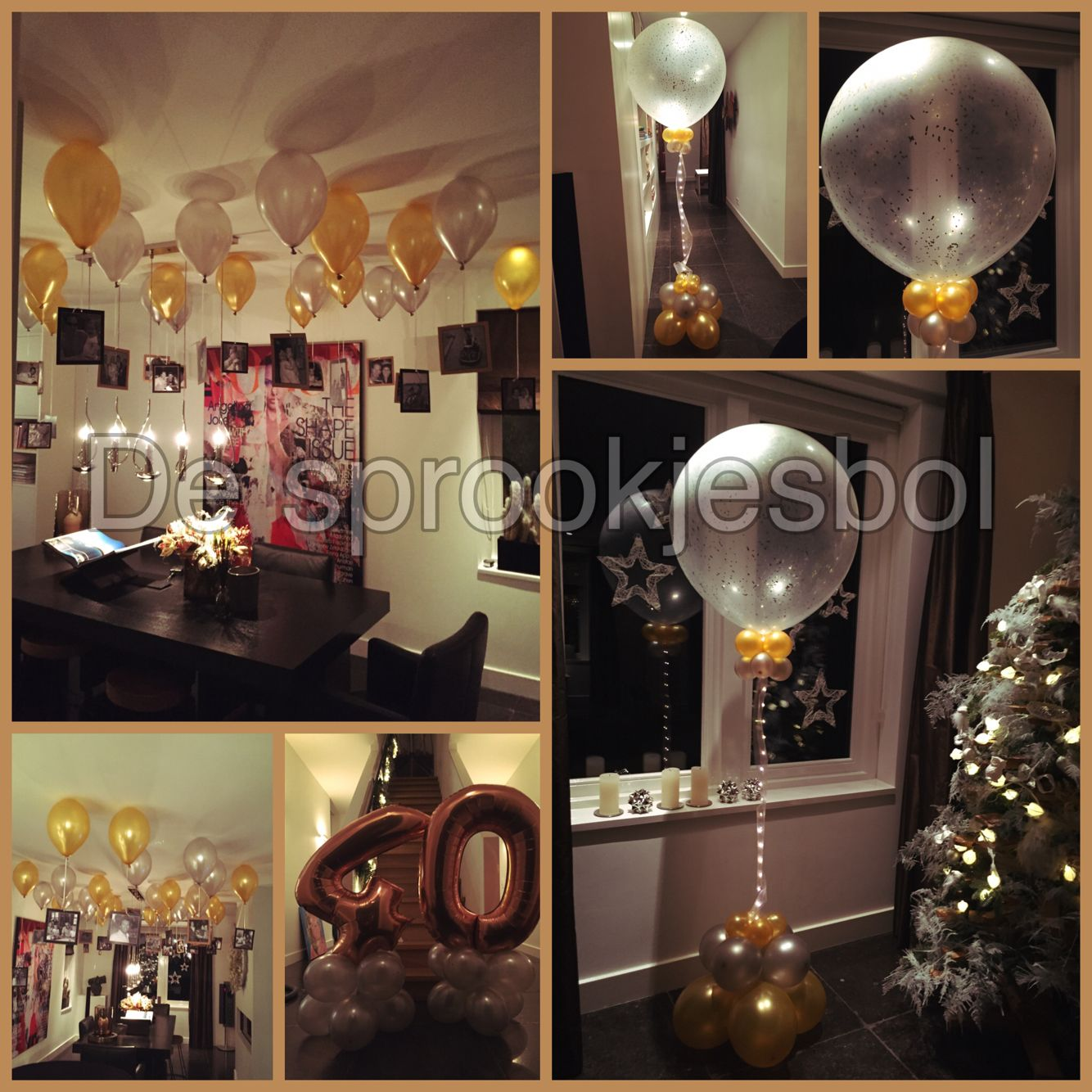 40 jaar feest ballonnen party helium ballonnen for Decoratie feest