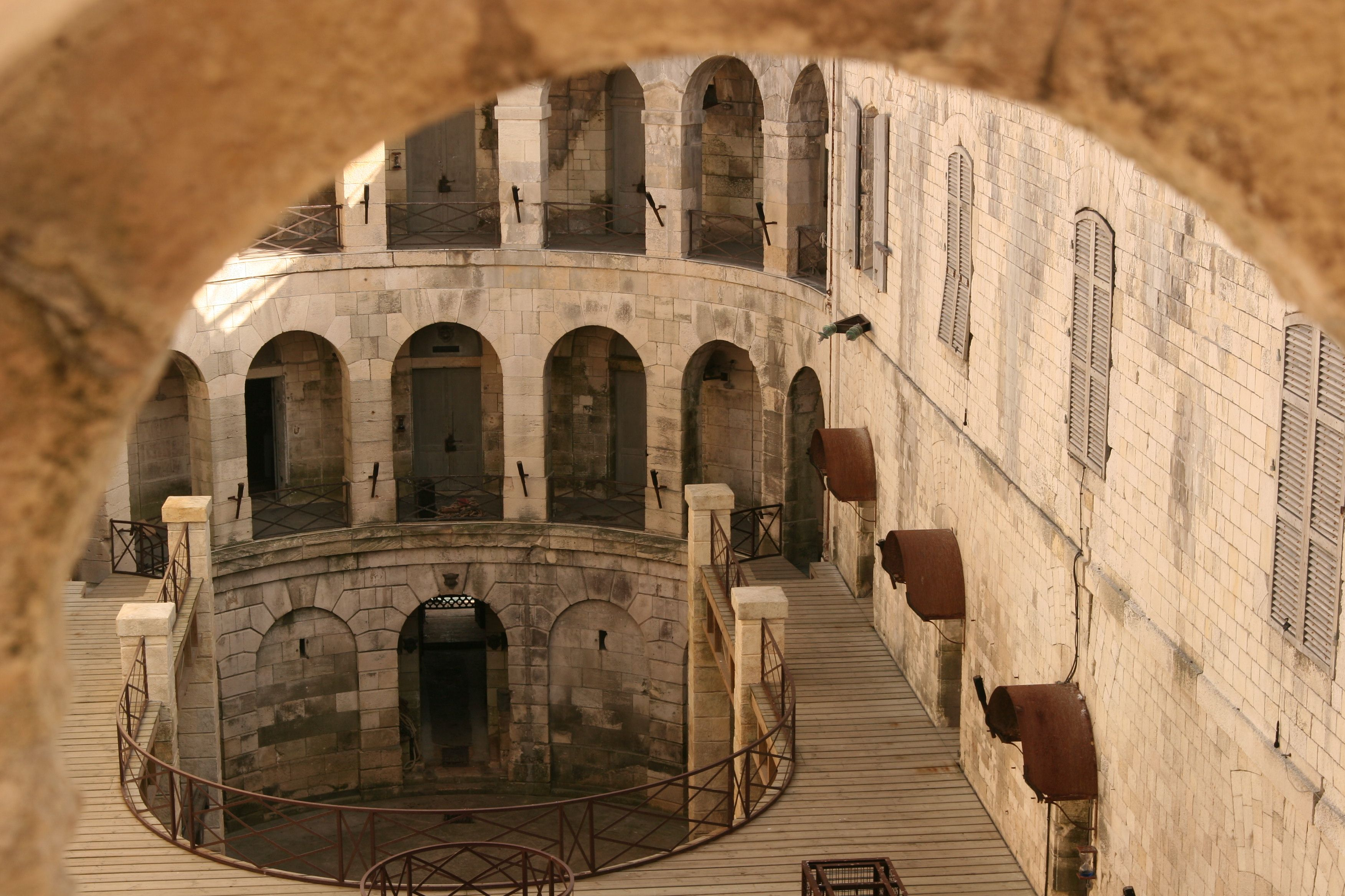 Inside courtyard of Fort Boyard | Escape the Fort | Pinterest | Forts