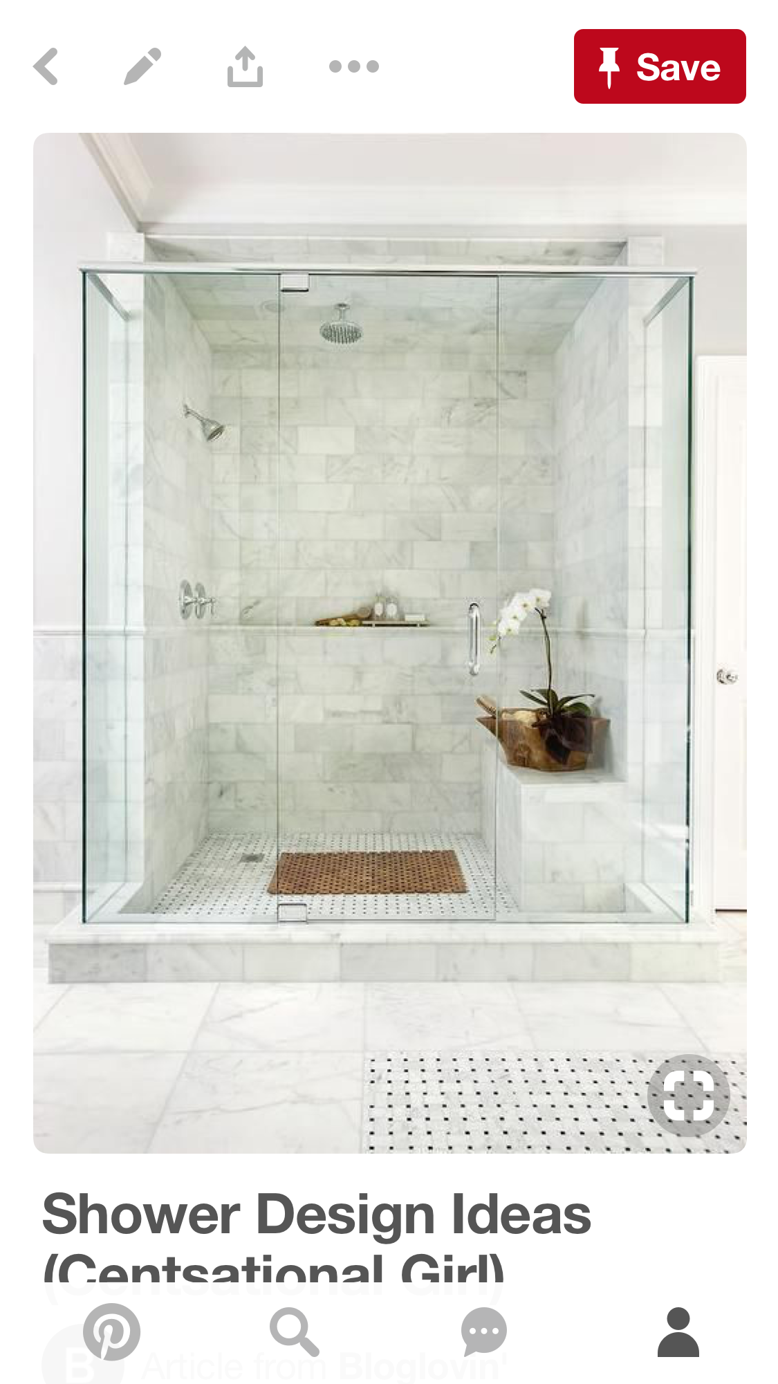 Love This Shower! Bench, Size, Tile, Etc.